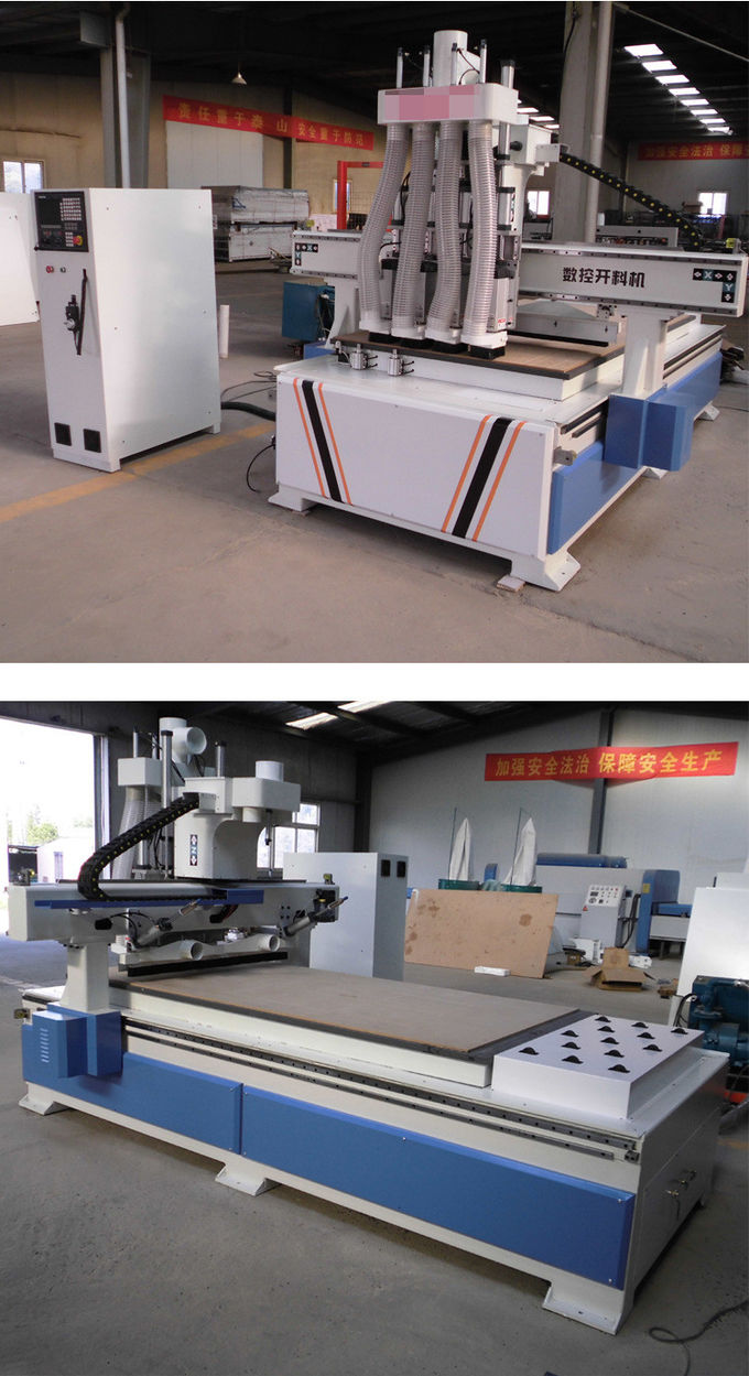 T-Slot Table Multi Spindle Automated Wood Router , High Efficiency 3d Cnc Router